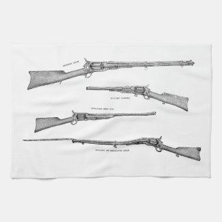 Vintage 1800s Shotgun Antique Shot Guns Old Rifles Kitchen Towel