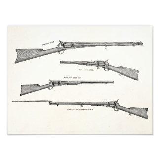 Vintage 1800s Shotgun Antique Shot Guns Old Rifles Photographic Print