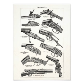 Vintage 1800s Shotgun Antique Shot Guns Old Rifles Photo Print