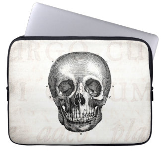Vintage 1800s Skull Retro Anatomical Old Drawing Laptop Sleeve
