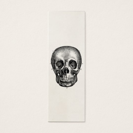 Vintage 1800s Skull Retro Skulls Skeleton Mini Business Card