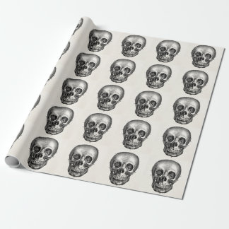 Vintage 1800s Skull Retro Skulls Skeleton Wrapping Paper