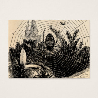 Vintage 1800s Spider Web Illustration - Spiders Business Card