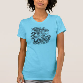 Vintage 1800s Squirrels Illustration - Squirrel T-Shirt