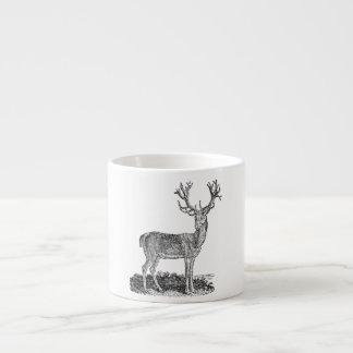 Vintage 1800s Stag Deer Antlers Retro Template Espresso Mug