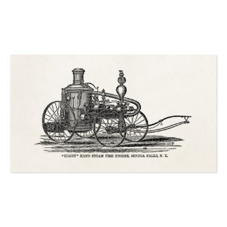 Vintage 1800s Steam Fire Engine Antique Fire Truck Pack Of Standard Business Cards