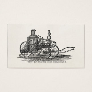 Vintage 1800s Steam Fire Engine Antique Fire Truck Business Card
