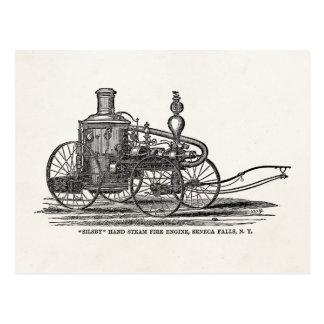 Vintage 1800s Steam Fire Engine Antique Fire Truck Postcard