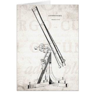 Vintage 1800s Telescope Antique Astronomy Template Card
