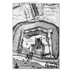 Vintage 1800s Tower of London Retro Map England Card