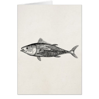 Vintage 1800s Tunny Fish Personalized Fishing Card