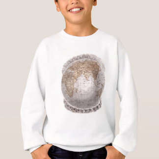 Vintage 1800s World Map Eastern Hemisphere Globe Sweatshirt
