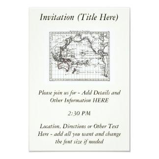 Vintage 1806 Map - Australasie et Polynesie 9 Cm X 13 Cm Invitation Card