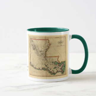 Vintage 1814 Louisiana Map Mug