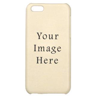 Vintage 1817 Cream Beige White Parchment Paper Case For iPhone 5C
