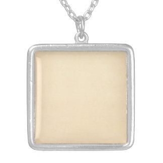 Vintage 1817 Parchment Paper Template Blank Square Pendant Necklace