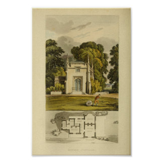 Vintage 1818 House Design Cottage Layout Print