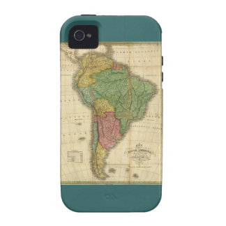 Vintage 1826 South America Map by Anthony Finley Case-Mate iPhone 4 Case