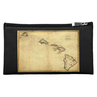 Vintage 1837 Hawaii Map -  Hawaiian Islands Cosmetic Bag