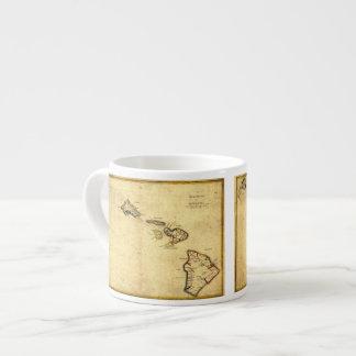 Vintage 1837 Hawaii Map -  Hawaiian Islands Espresso Mug