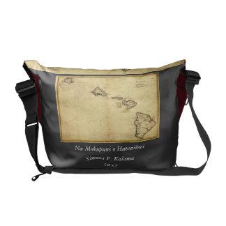 Vintage 1837 Hawaii Map -  Hawaiian Islands Commuter Bag