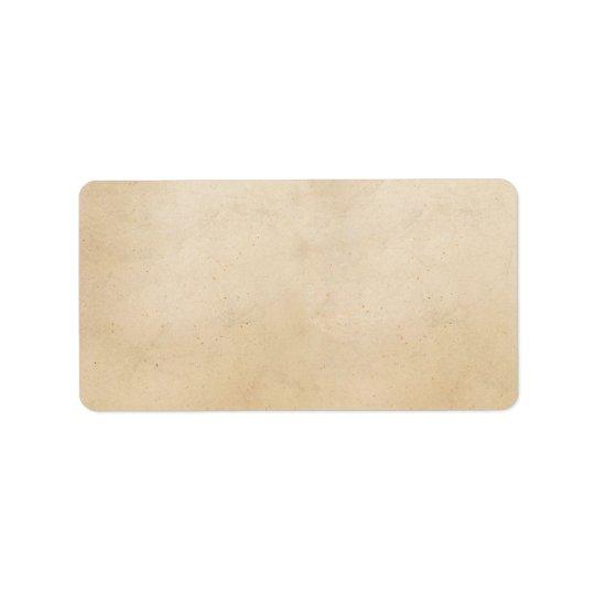 Vintage 1850 Parchment Paper Template Blank Address Label