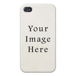 Vintage 1850s White Parchment Paper Background iPhone 4 Cover