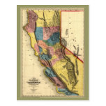 Vintage 1851 California Gold Region State Map