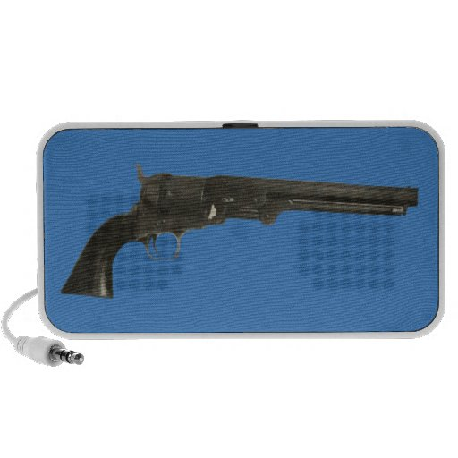 Vintage 1860s Colt Revolver Gun Portable Speakers