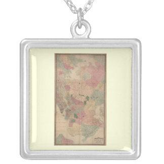 Vintage 1872 Brooklyn Map - New York City Queens Custom Necklace