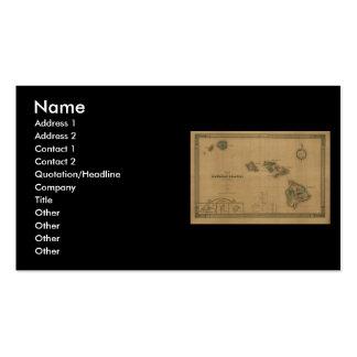 Vintage 1876 Hawaii Map -  Hawaiian Islands Business Card