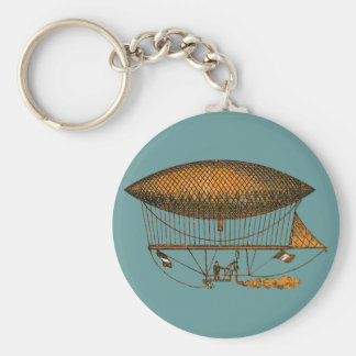 Vintage 1883 Traveling Zeppelin Basic Round Button Key Ring