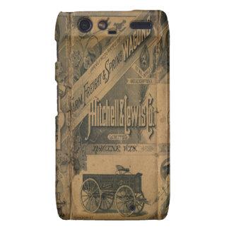 Vintage 1885 Collage Ads Motorola Droid RAZR Droid RAZR Case