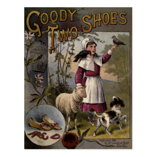 vintage 1888 Book cover Goody-Two Shoes Postcard