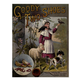vintage 1888 Book cover Goody-Two Shoes Posters