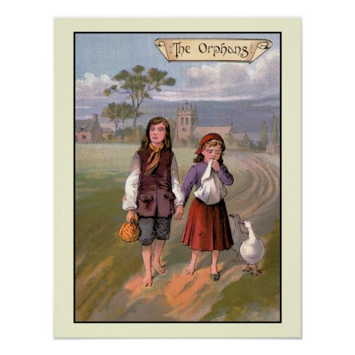 vintage 1888 Book illustration Goody-Two Shoes Poster