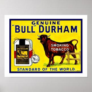 Vintage 1890s Bull Durham tobacco ad Poster