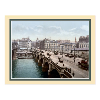 Vintage 1890s Glasgow Bridge Scotland photo Postcard