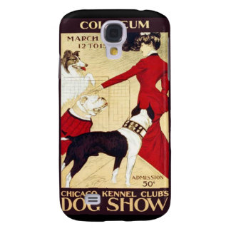 Vintage 1890's Kennel Club Dog Show Retro Galaxy S4 Case