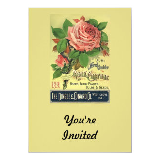Vintage 1891 Guide to Rose Culture 5x7 Paper Invitation Card