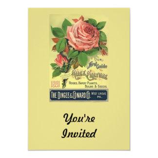 Vintage 1891 Guide to Rose Culture 13 Cm X 18 Cm Invitation Card