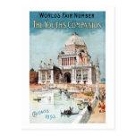 Vintage 1893 Chicago World's fair expo Post Card