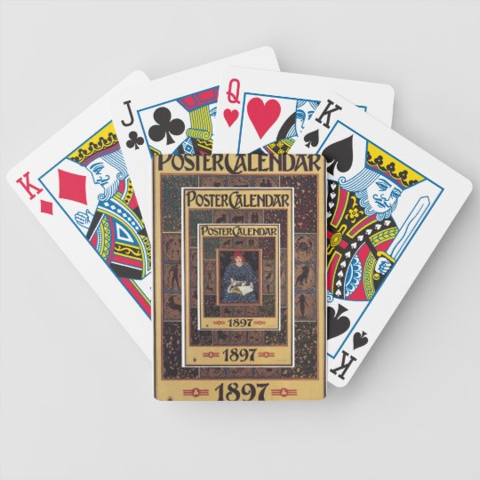 Vintage 1897 Poster Calendar Playing Cards
