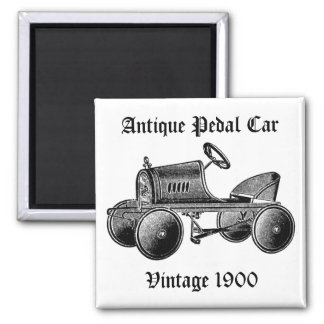 Vintage 1900 Antique Pedal Car Magnet