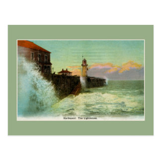 Vintage 1900s Hartlepool The lighthouse Postcard