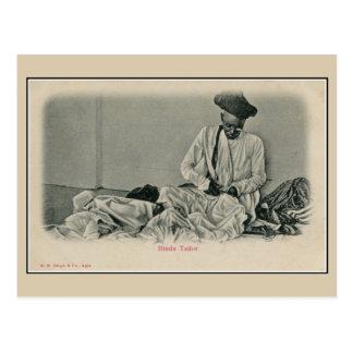 Vintage 1900s India Hindu tailor Post Card