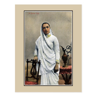 Vintage 1900s India, Parsi Woman Post Cards