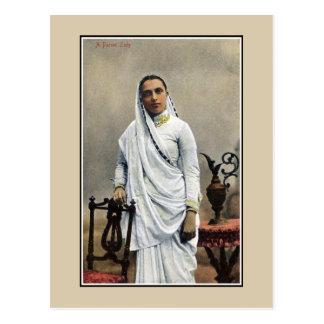 Vintage 1900s India, Parsi Woman Postcard