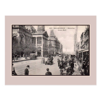 Vintage 1900s Melbourne Town Hall Postcard