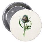Vintage 1902 Old Scottish Thistle Wild Flower 7.5 Cm Round Badge